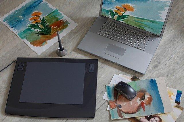 Graphic design art tablet