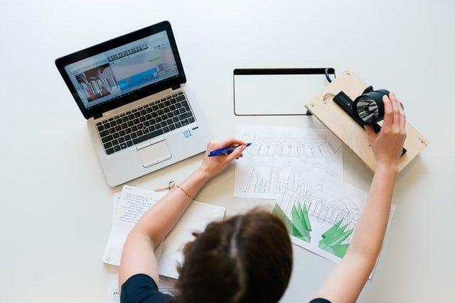 Laptop and digital art