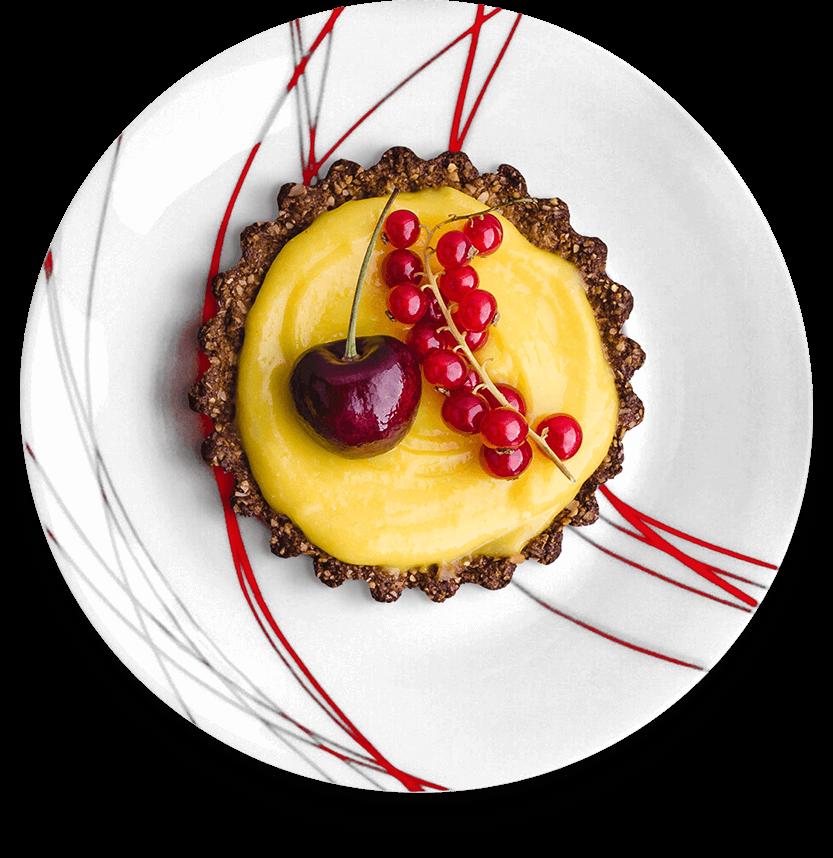 Cherry and orange tart