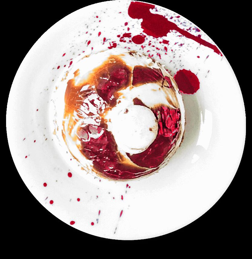 Fruit tart on plate